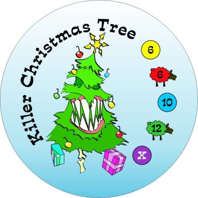 Killer Christmas Tree Button Men